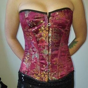 Tops - Vintage brocade corset